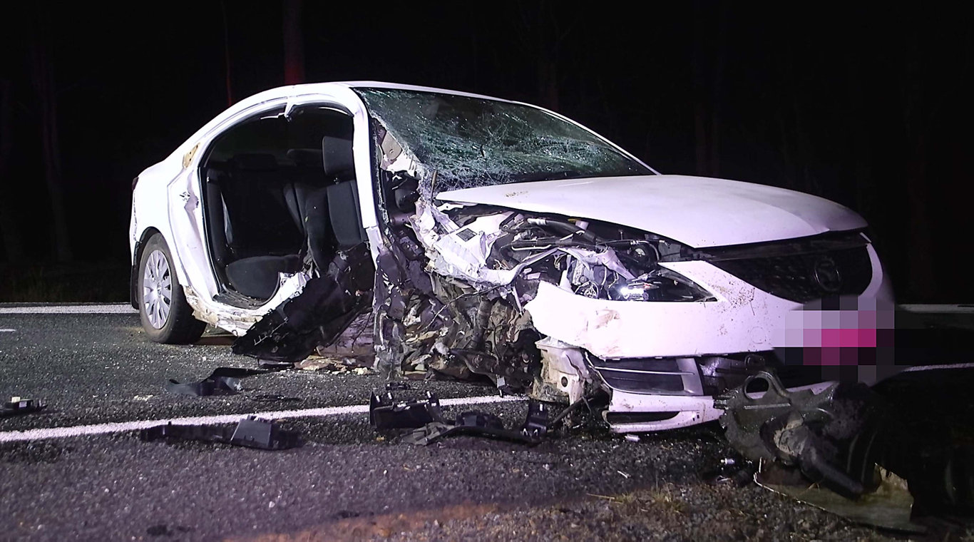 ANOTHER FATAL: The scene of a crash earlier this month near Glenugie.