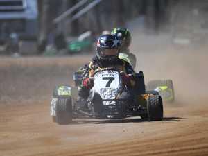 Mower racing: Dirt kart's Brendan Fitzgerald..
