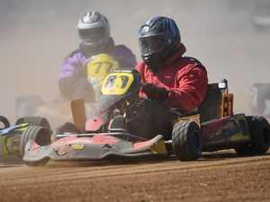 Mower racing: Dirt kart's Jamie Aspinall.