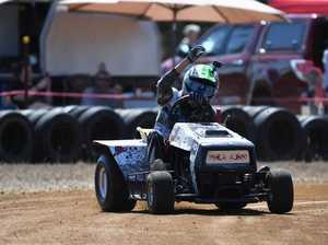 Mower racing: D Grade, Jay Taylor..