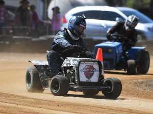 Mower racing: C Grade, David Hanran.