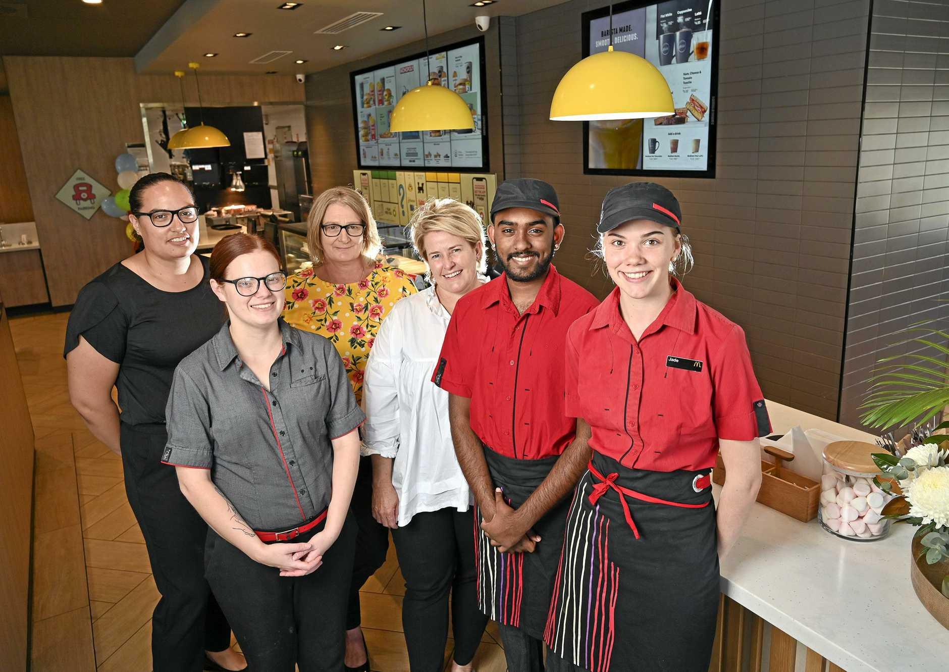 McDonald's Camira turns 1. Tiana Tipene, Hayley Edmonds, Jane McEwen, Lisa Mackintosh, Sai Rajagopalan and Jade Bauer.