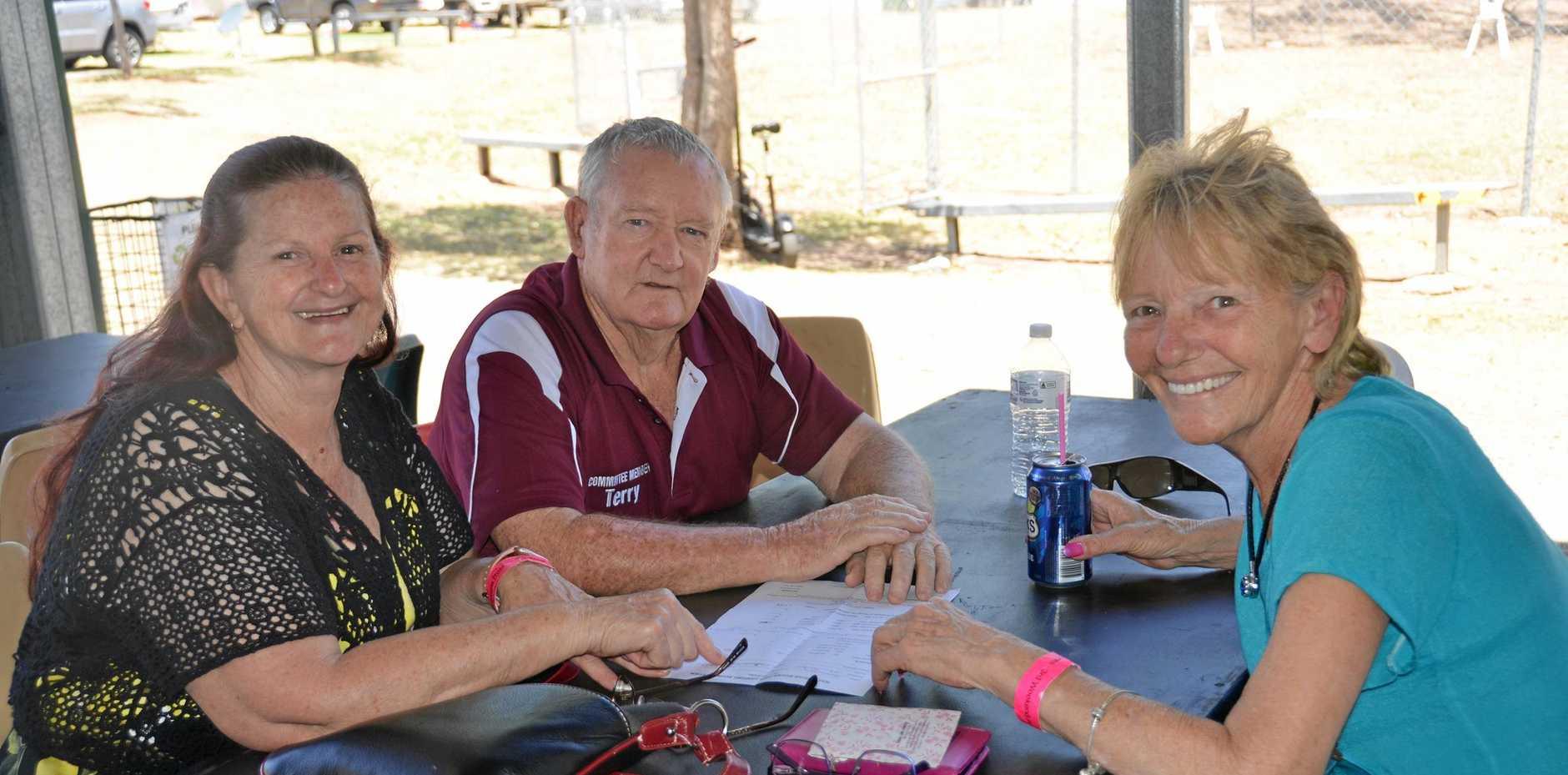 ROCKERS: Waterhole Rocks committee members Rhonda and Terry Mackrell with Sue Osberg.
