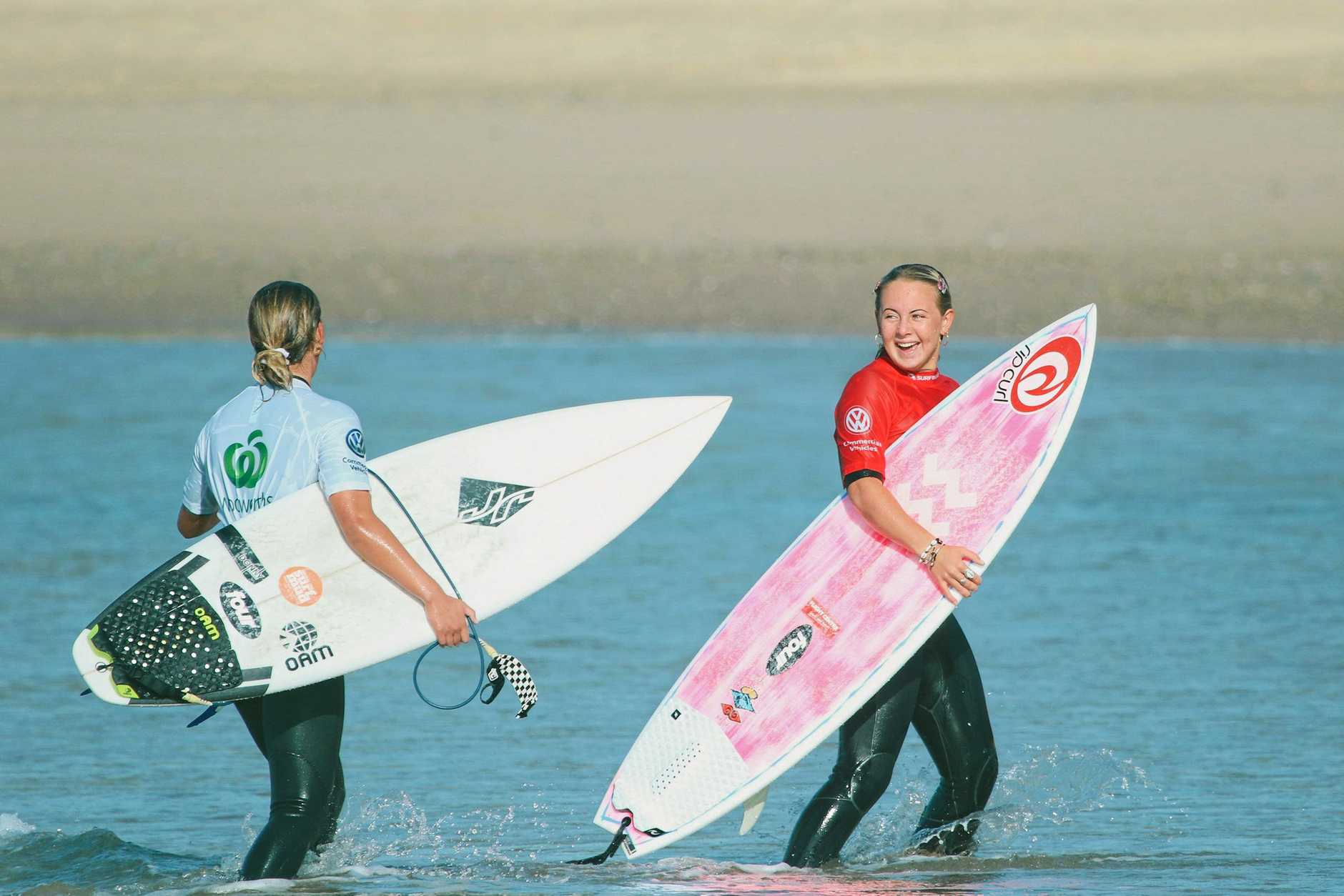 WAVE OF SUCCESS: Lennox Head surfer Nyxie Ryan is a professional on the 2019 Women's Junior Tour.and she will compete in the 2019 World Junior Championships at Huntington Beach, California, from October 26 to November 3.