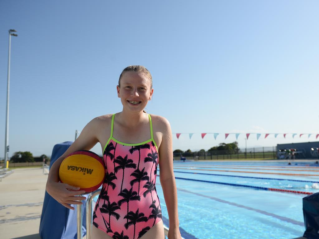 Mackay water polo player Hannah Nicolas. (Photo: Aidan Cureton)