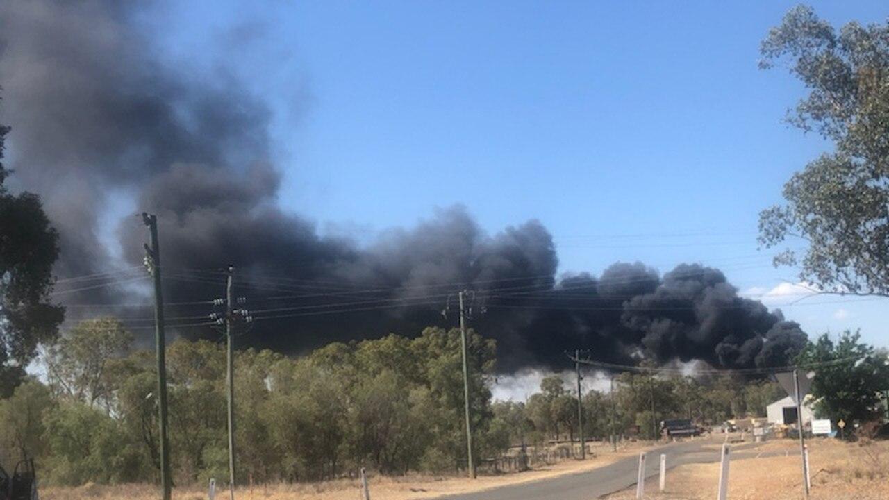 Fire at Mitchell Dump.