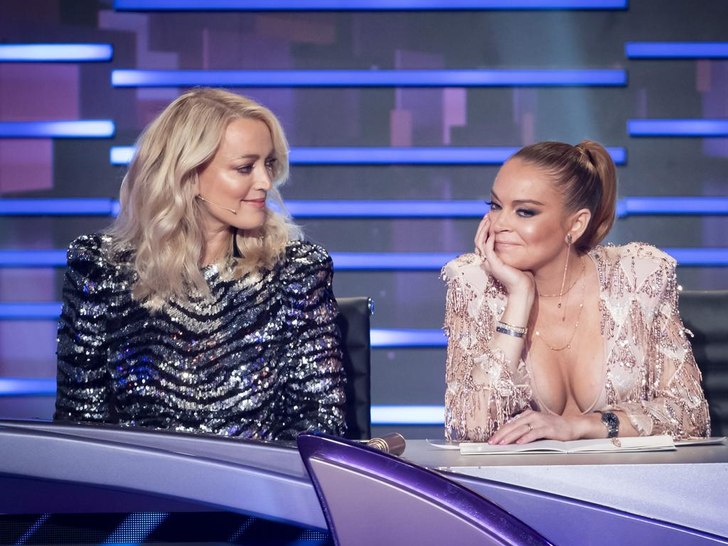 'They're all coming back.' Lindsay Lohan, right, has divided opinion. Picture: Ten
