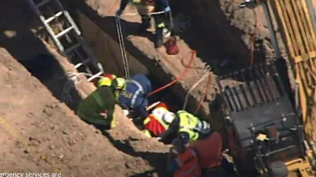 A man has fallen down a hole in Sydney's west. Picture: 7 News