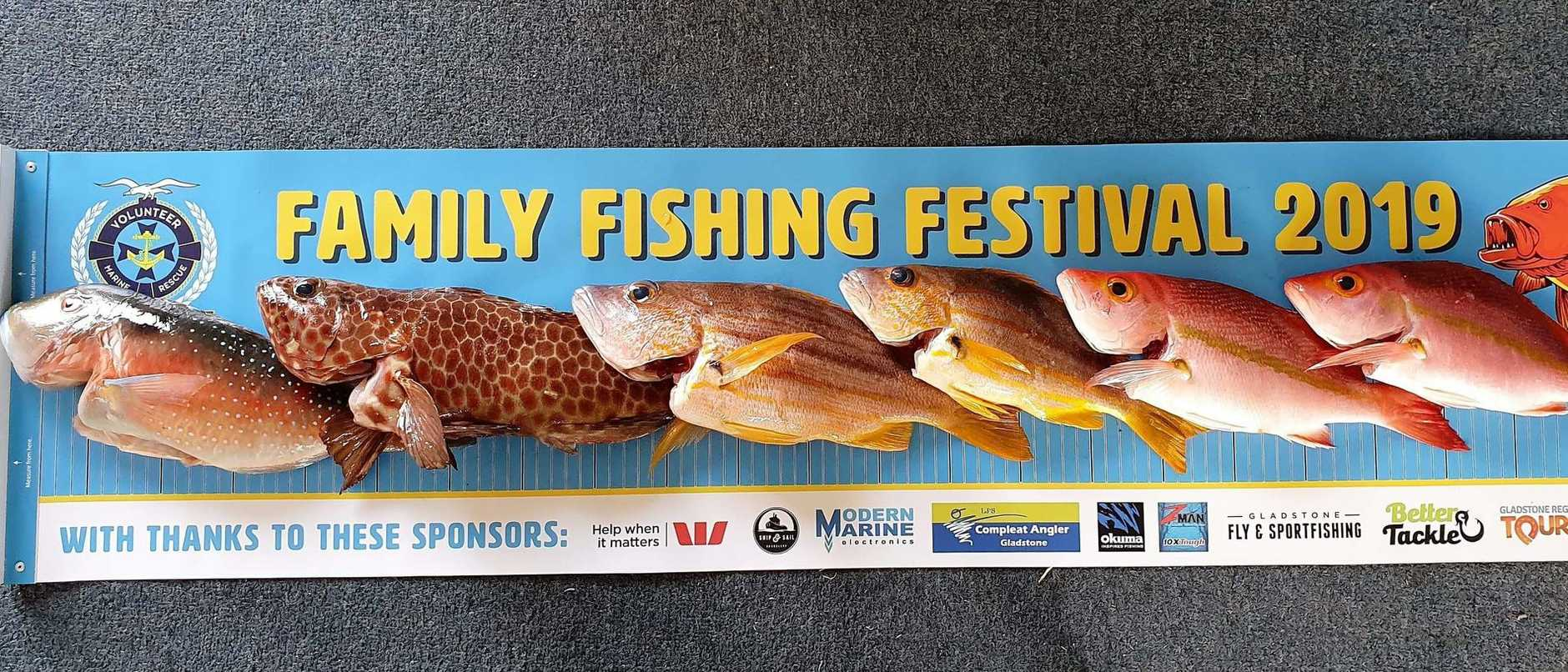 An impressive selection of fish caught during the VMR Gladstone Family Fishing Festival.