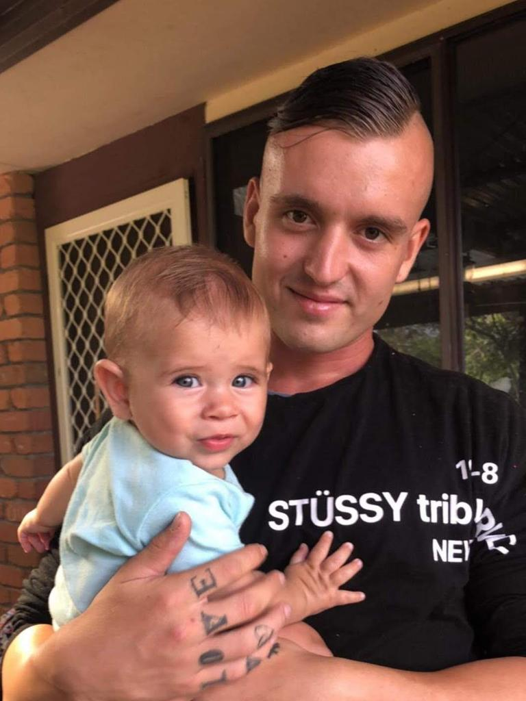 Dylan Edgecombe pictured with his nephew Remy. Photo: Contributed
