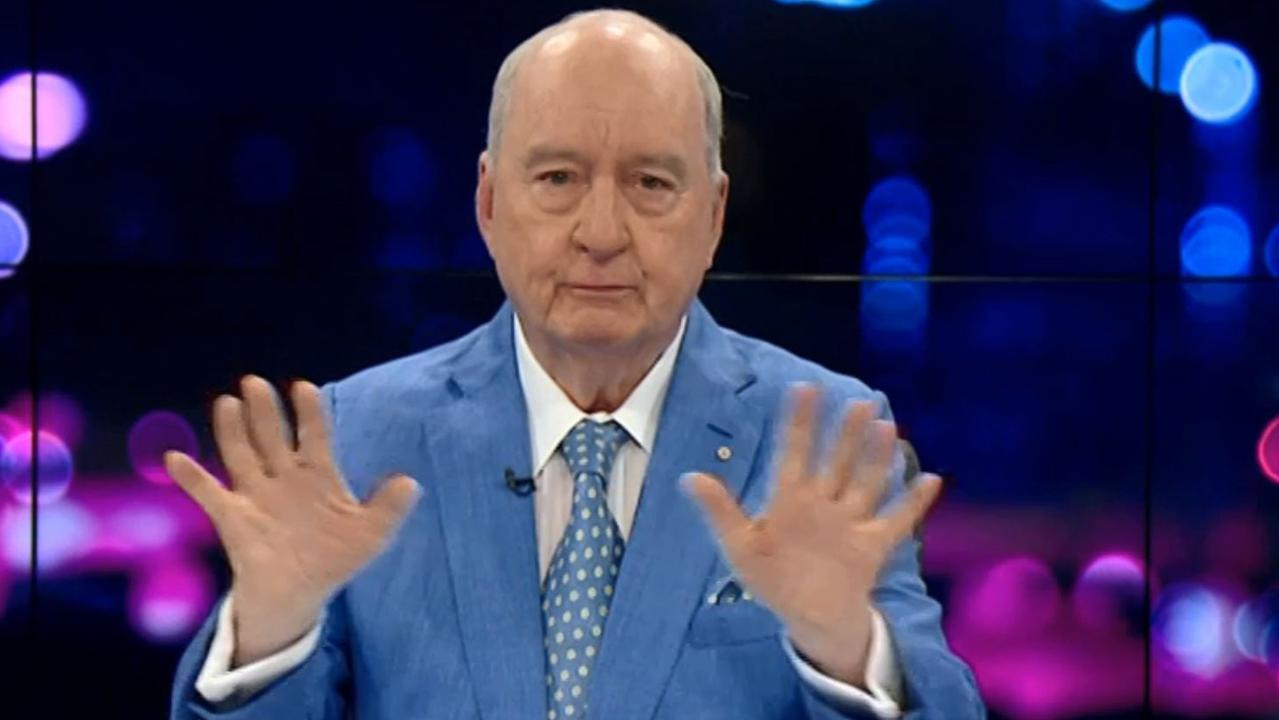 Alan Jones breaks down and cries live on air. Video Grab: Sky News