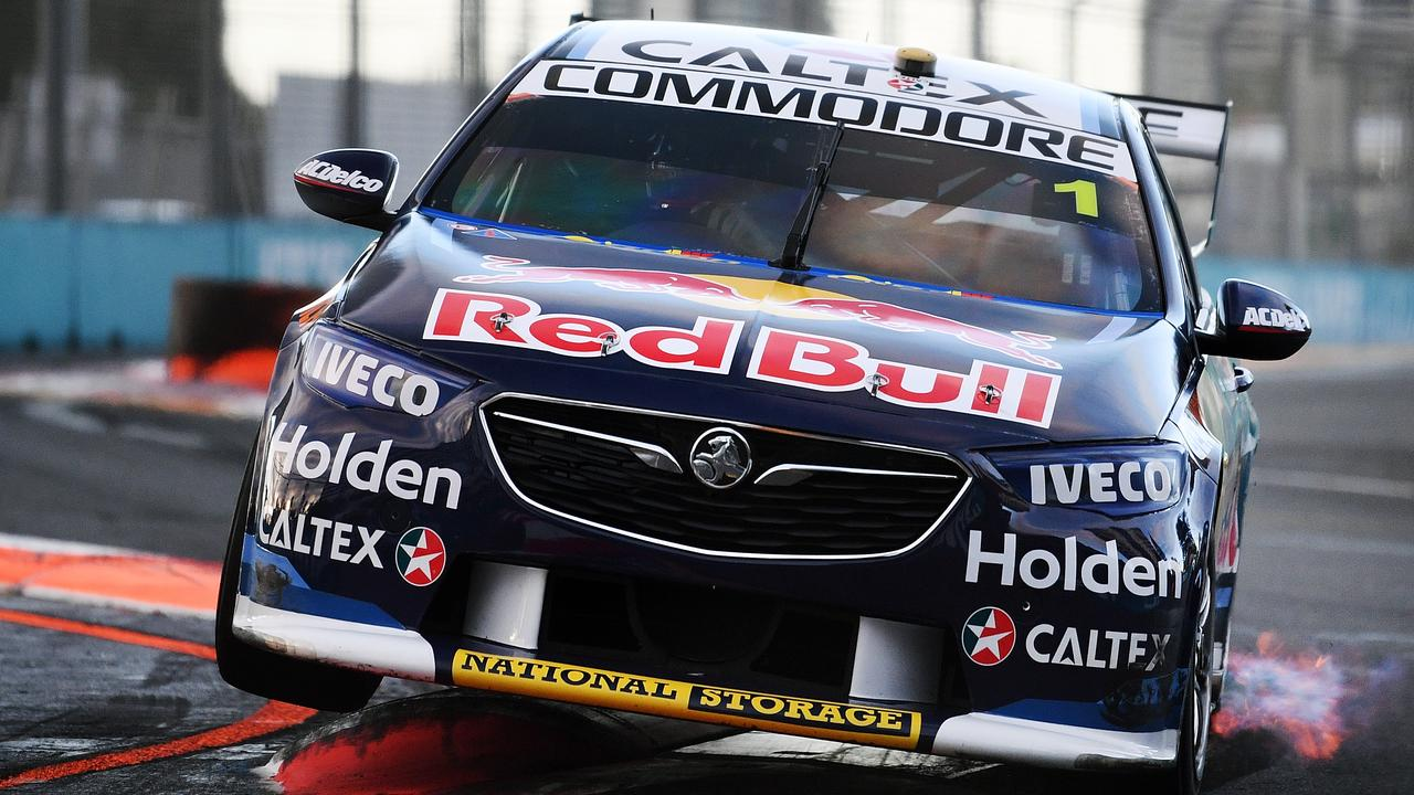 Jamie Whincup drives the #1 Red Bull Holden Racing Team Holden Commodore ZB during the Supercars Gold Coast 600 last year.