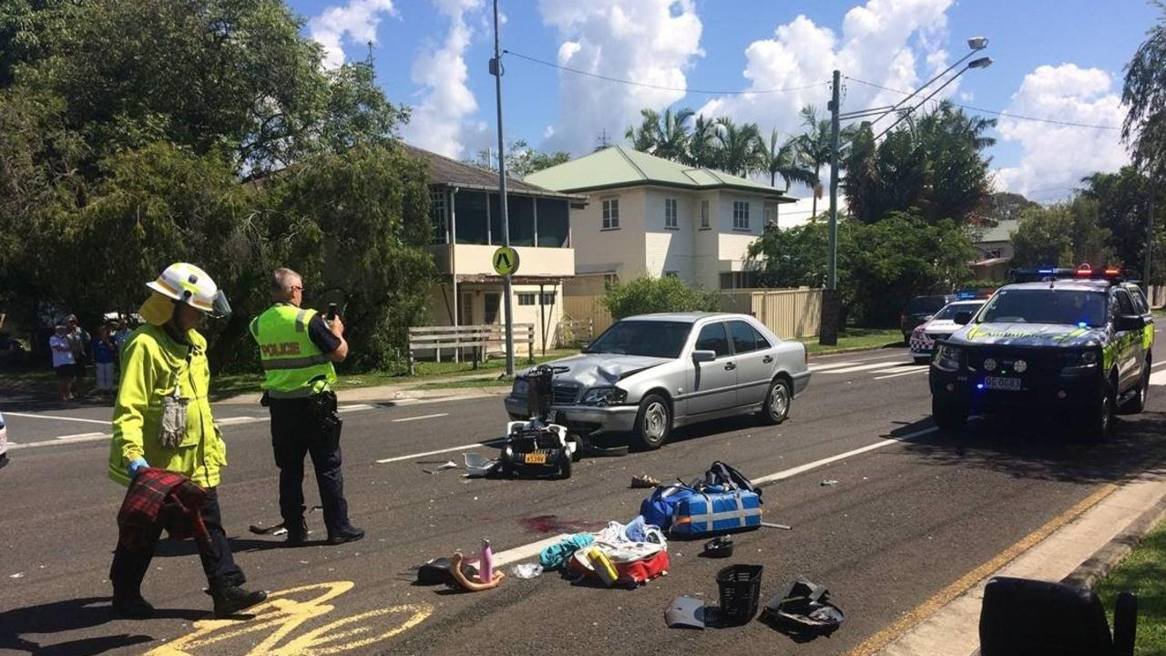 The elderly woman died in hospital after being hit by a car while crossing a pedestrian crossing on her mobility scooter. Photo: Alan Lander