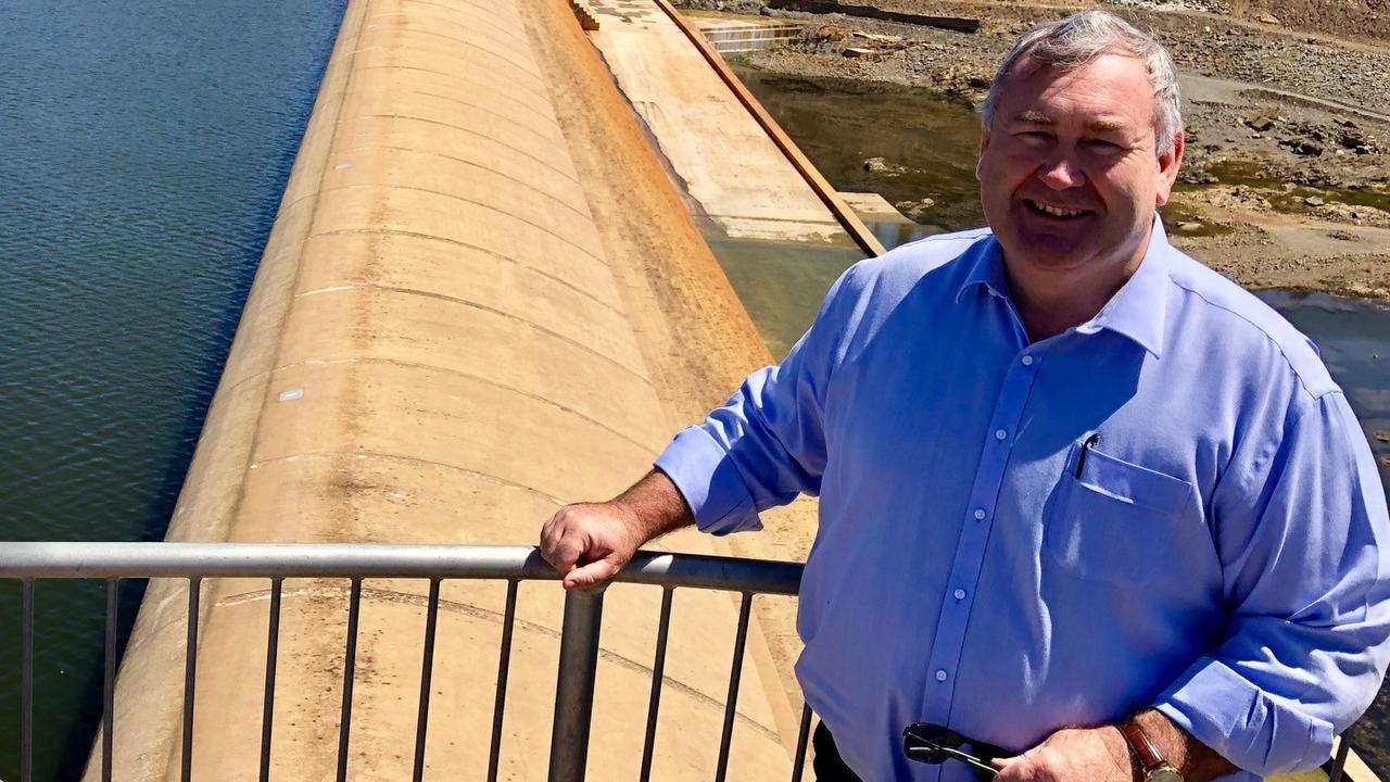 Bundaberg mayor Jack Dempsey recently visited Paradise Dam. Picture: Supplied.