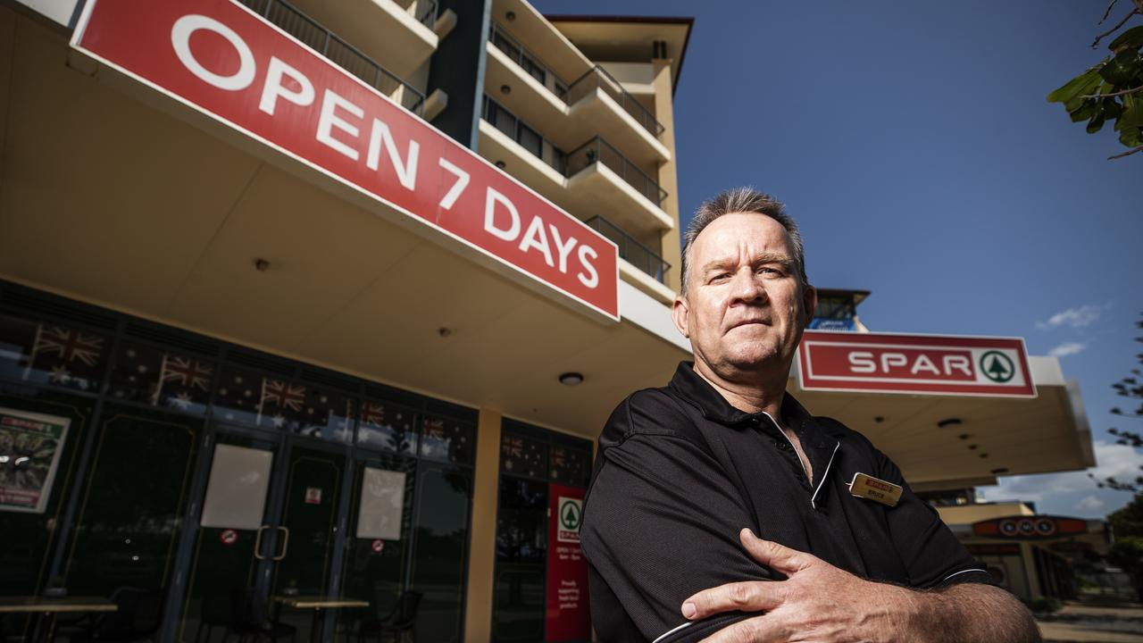 Sunshine Coast SPAR owner Bruce Luchterhand is outraged by the government's Christmas Eve public holiday proposal. Picture: Lachie Millard