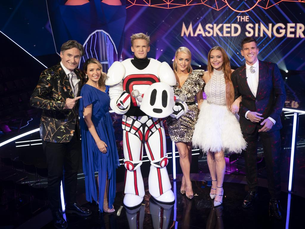 Cody Simpson wins The Masked Singer Australia. Picture: Ten