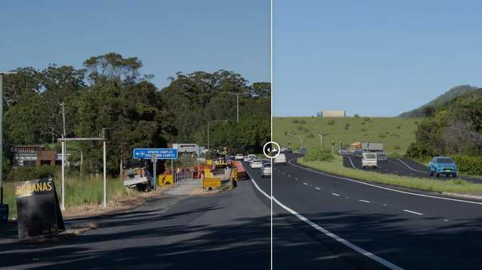 BEFORE AND AFTER: Changes of the $1.8 billion Coffs bypass