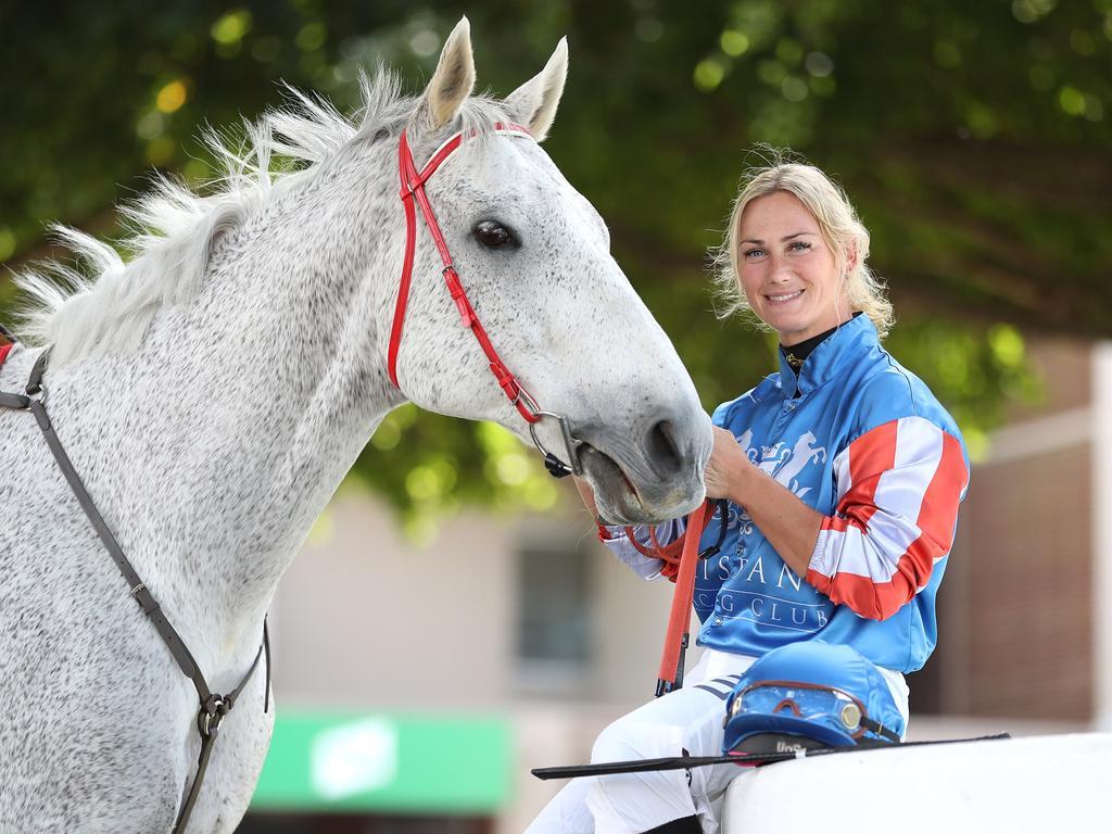 Cheshire was heartbroken watching her former horse being tortured. Picture: Peter Wallis