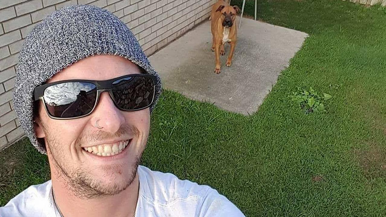 Luke McKoy, 28, died when his car hit a tree while he was overtaking on the Bruce Highway near Nambour. His dog, Major, stayed by his side for five hours afterwards. Photo: Contributed