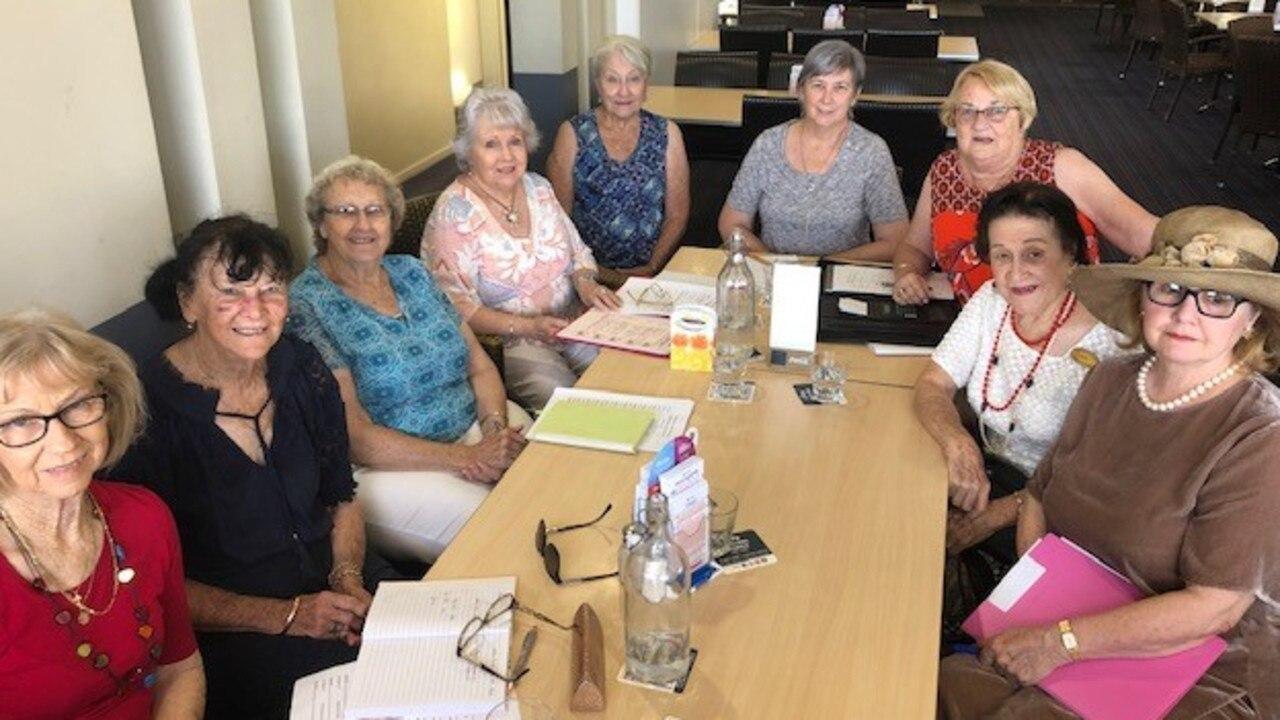 CarolAnn Carolyn, Cherie Weatherall, Hazel Halliday, Melody Williams, Carol Price, Debbie Ciesiolka, Valda Beak, June Murray and Sara Dawes.