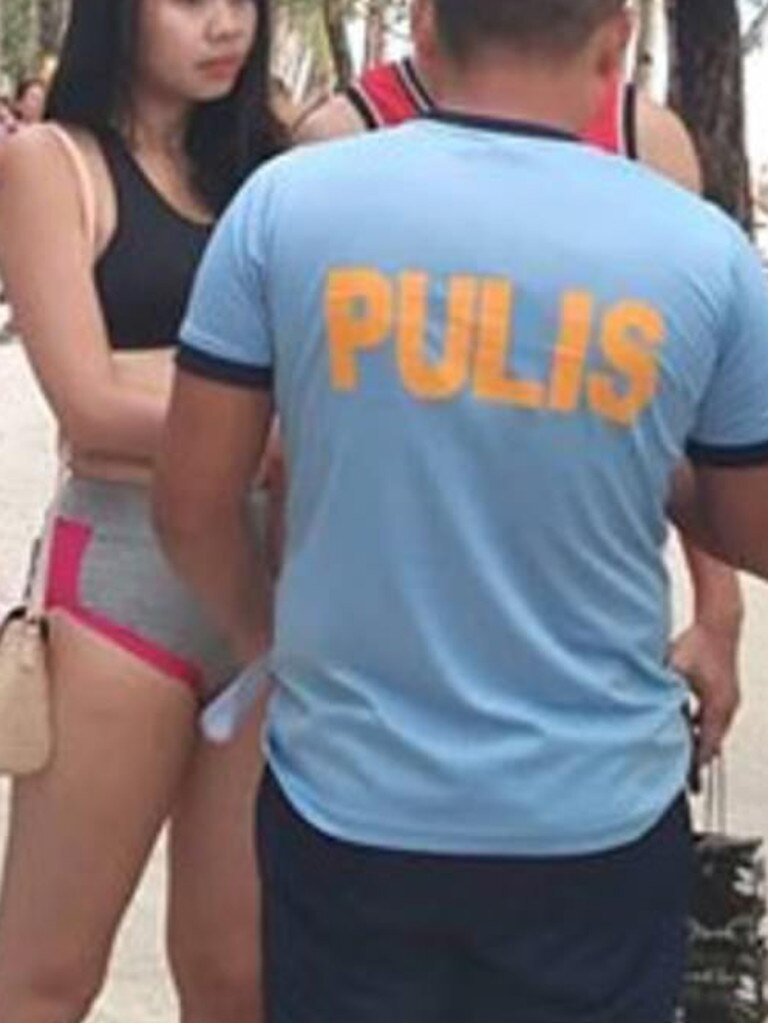 She reportedly told local media she was 'comfortable' with her choice in outfit and didn't see a problem. Picture: Facebook/Boracay Informer