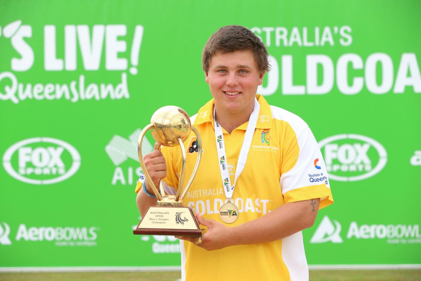 THE CHAMP: 2015 Australian Open Winner Aaron Teys, will return for 2016.