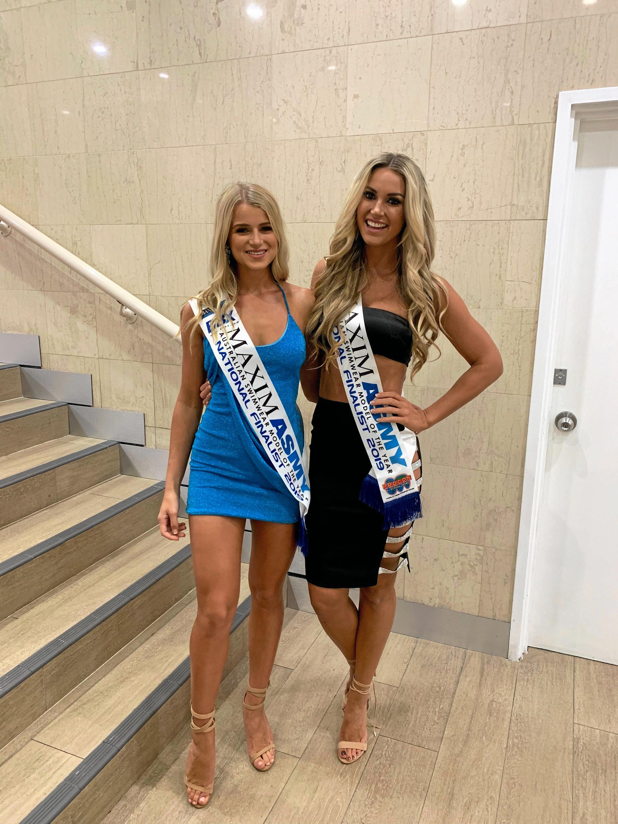 BOMBSHELL: Clare Nixon and Lara Zafir are heading to the Mexico in less than three weeks for the Miss Swimsuit USA International.