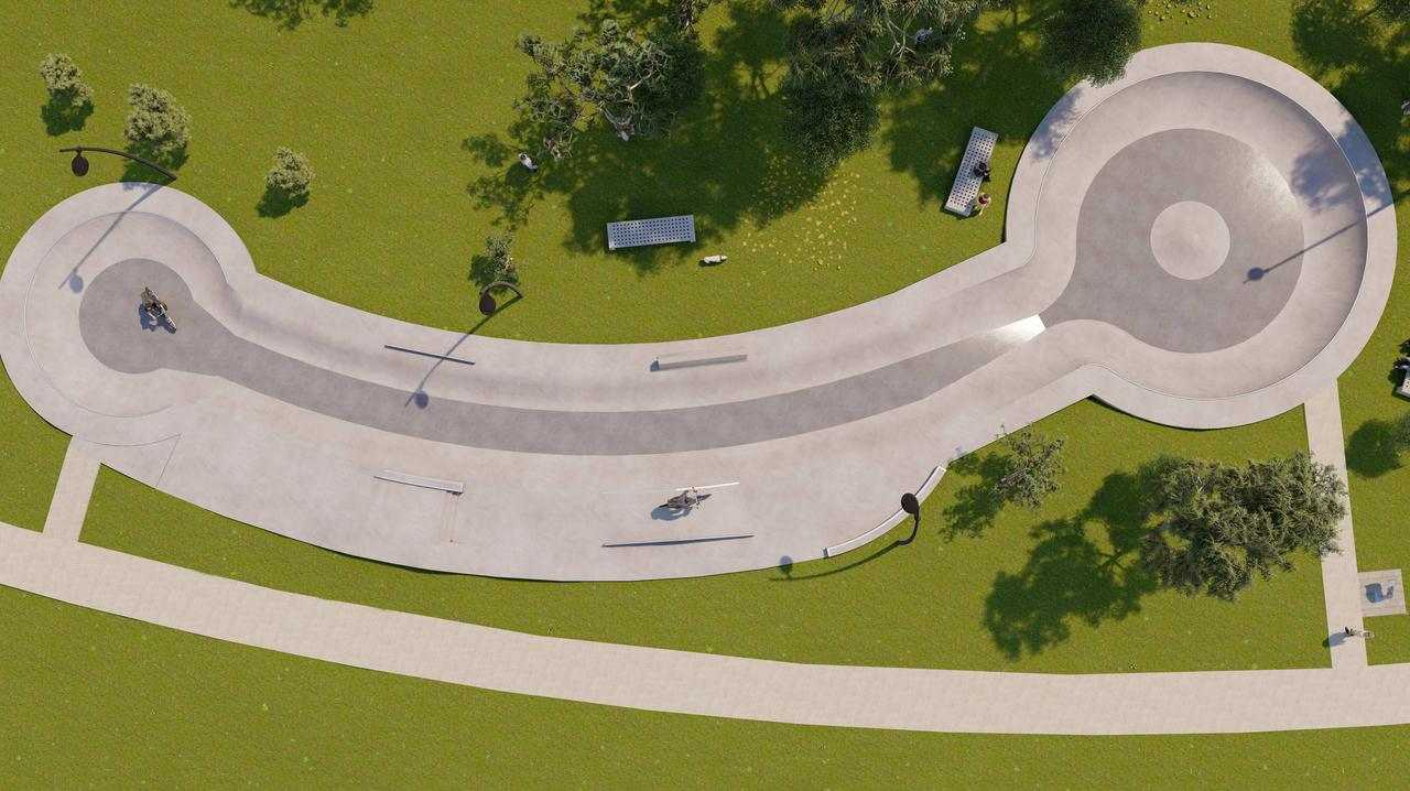 Adelaide Council mocked for X-rated skate park design. Picture: City of Tea Tree Gully