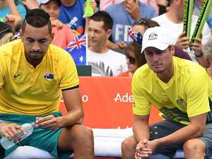 Kyrgios, Hewitt bury Davis Cup hatchet