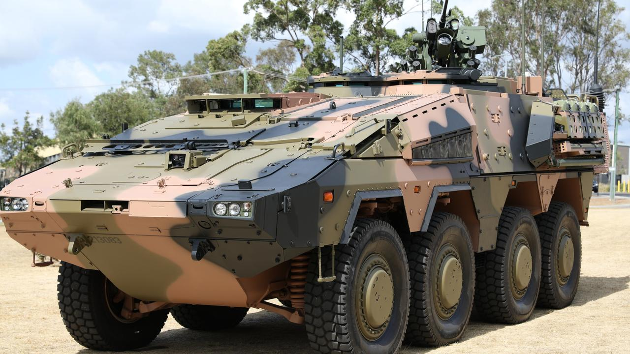Rheinmetall unveiled the first of the Boxer vehicles it is building for the Army under a $5 billion contract at Brisbane's Enoggera Barracks last month.