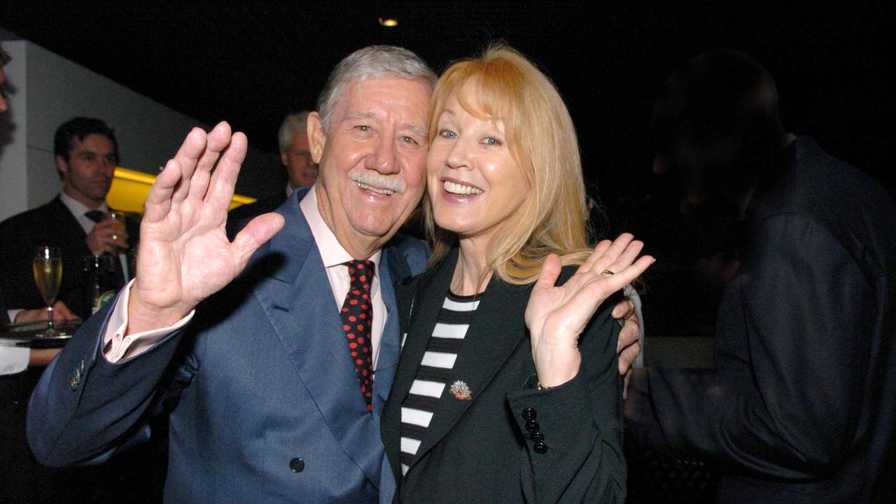 Reg Grundy and his wife Joy Chambers-Grundy.