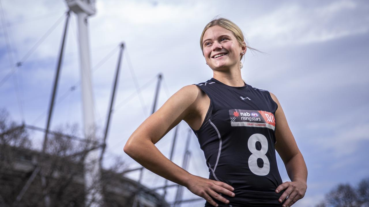 Lions academy star Lily Postlethwaite was taken by Brisbane with Pick 3 at the 2019 AFLW Draft on Tuesday.