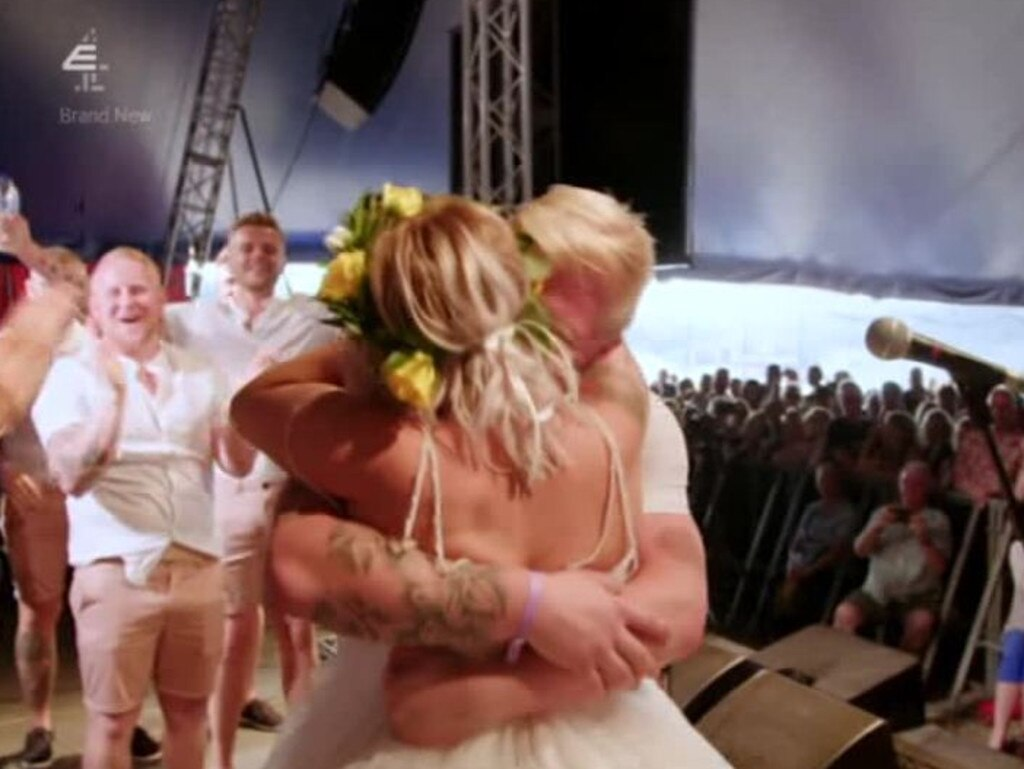 The couple tied the knot in front of 7000 festival-goers. Picture: Don't Tell The Bride