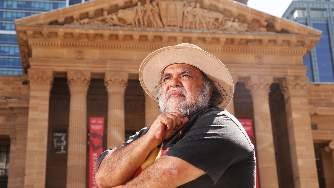 Aboriginal rights activist Sam Watson says the LNP Council and Labor State Government are worried about The Greens chances around South Brisbane. Picture: AAP/Claudia Baxter