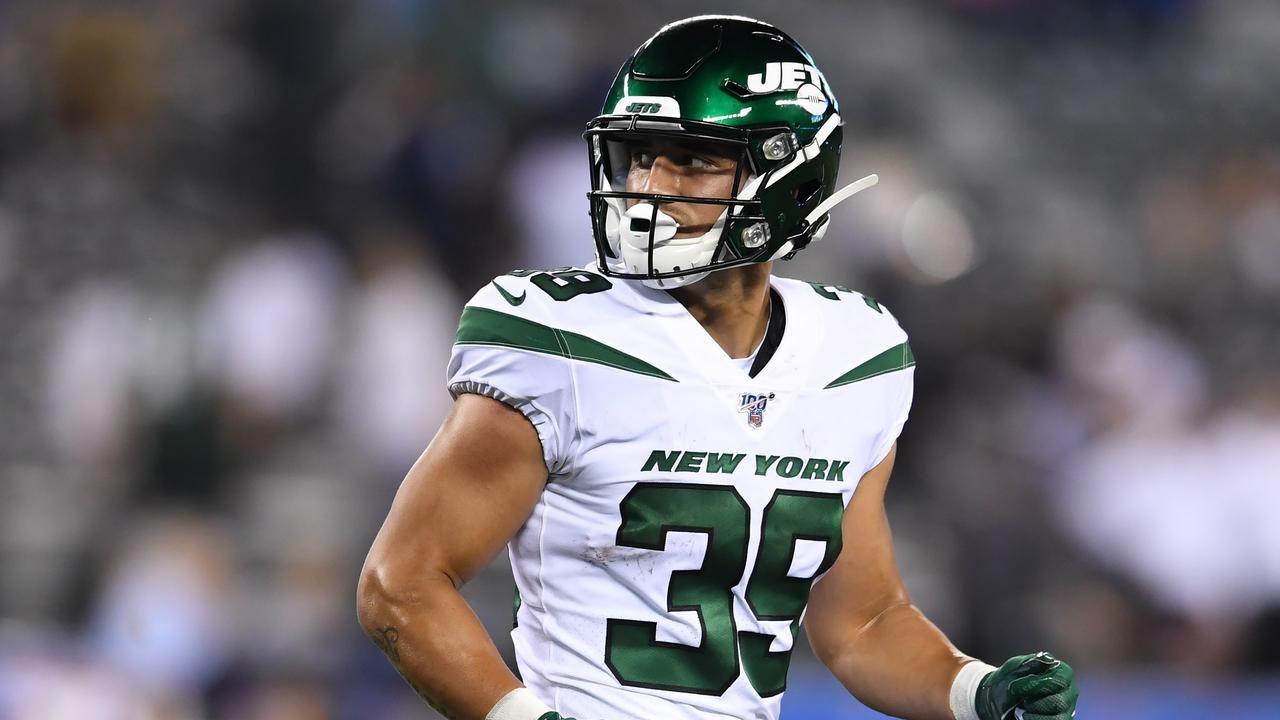New York Jets hopeful Valentine Holmes is eyeing a return to the NRL. Picture: Sarah Stier