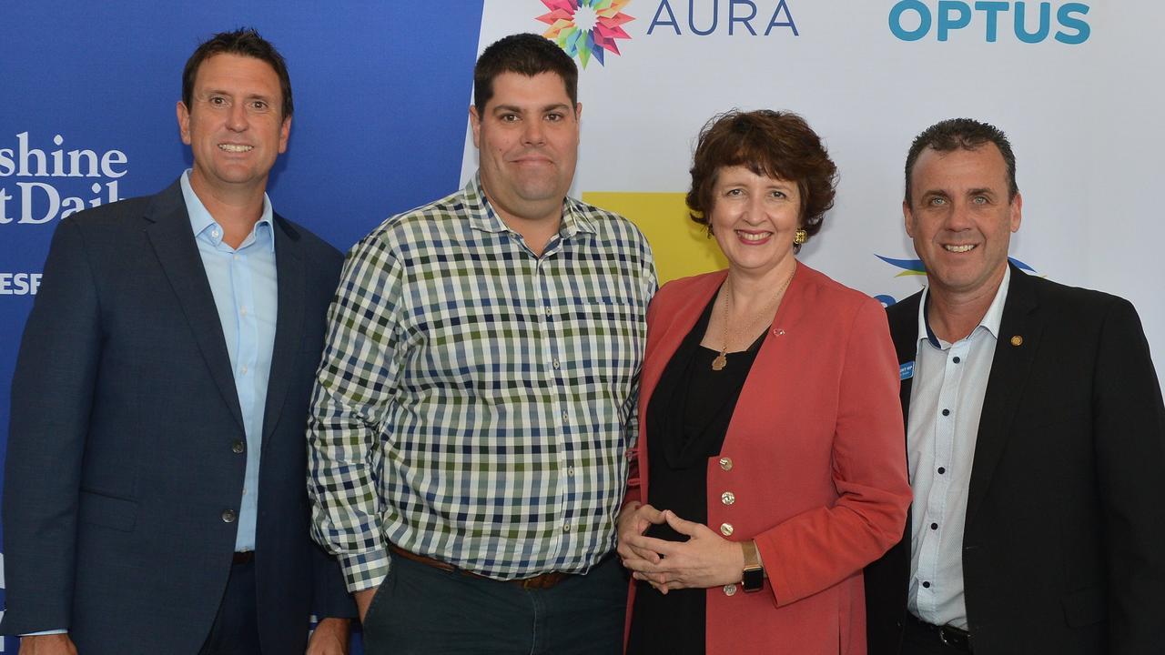 Sunshine Coast Daily's Future Sunshine Coast event. Dan Purdie, Brent Mickelberg, Fiona Simpson and Marty Hunt.