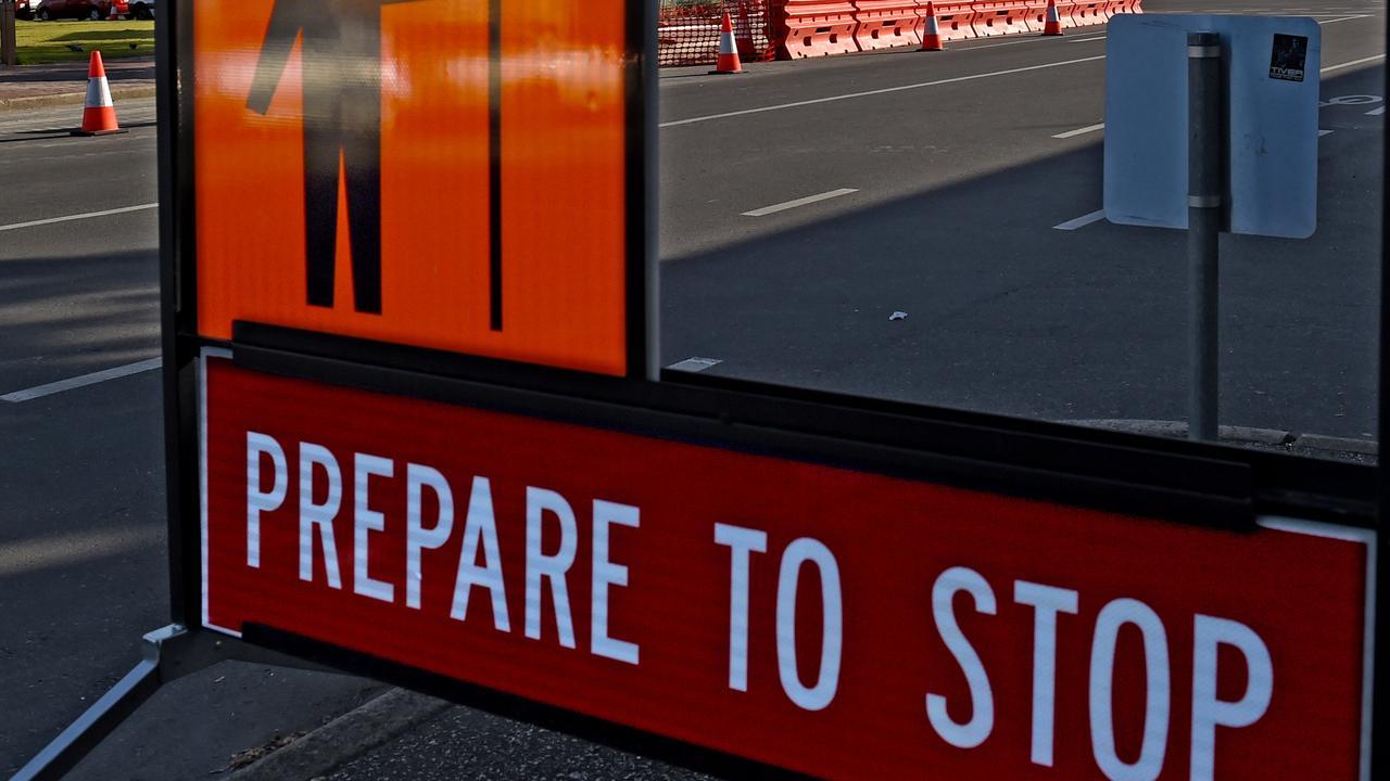 Prepare to stop. Roadwork on the Bruce Highway will cut lane access. Picture: Naomi Jellicoe