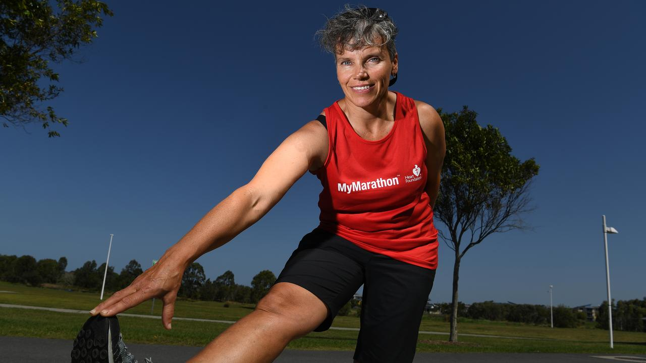 STRETCH: Robyn Fox is taking part in the MyMarathon Challenge to raise funds for the Heart Foundation. Photo: Warren Lynam