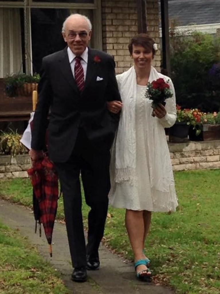 Robyn Fox and her father Ian. Photo: Contributed