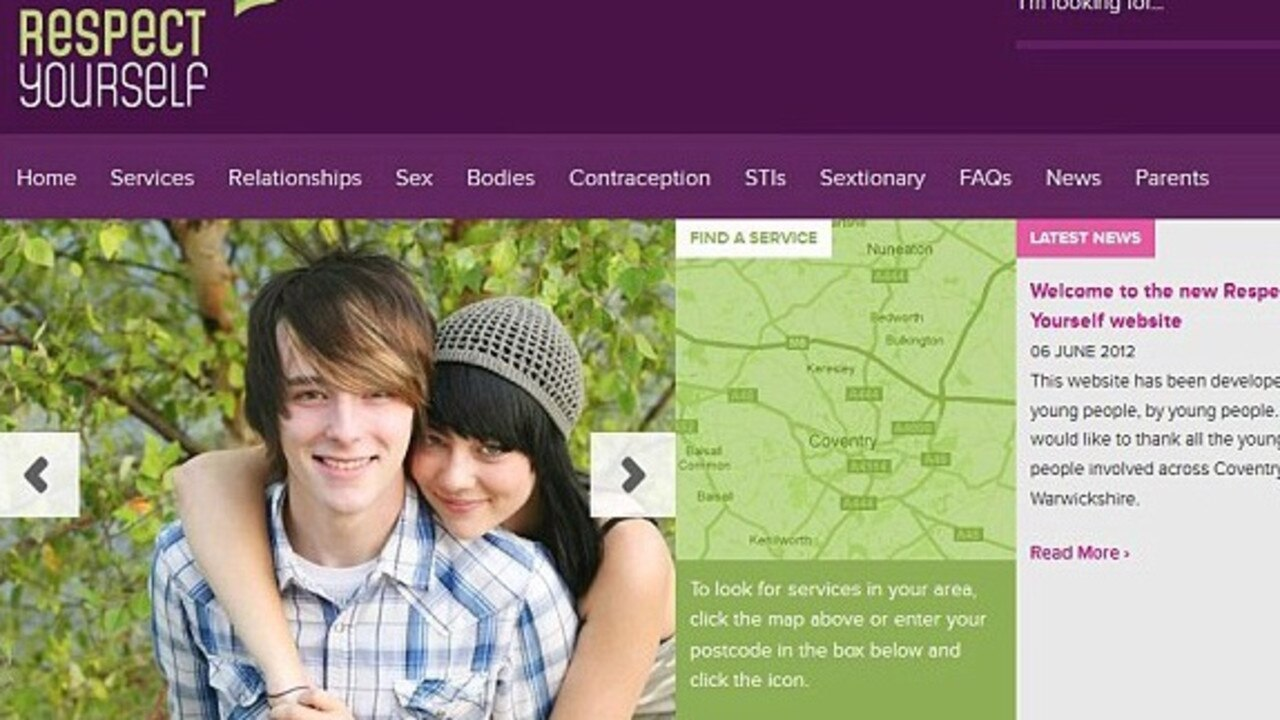 Council sex education website teaches kids about bukkake, masturbation