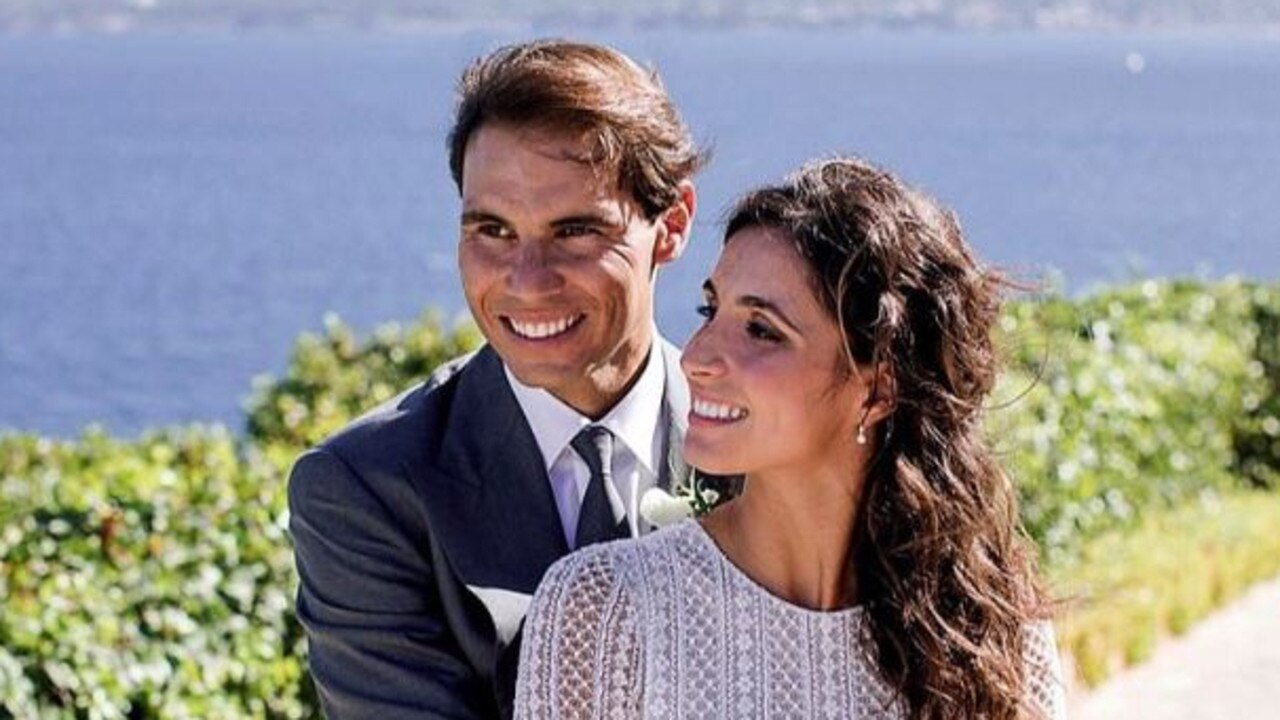 Rafael Nadal married longtime girlfriend, Mery Perello, in Spain over the weekend. Picture: Rafael Nadal Foundation