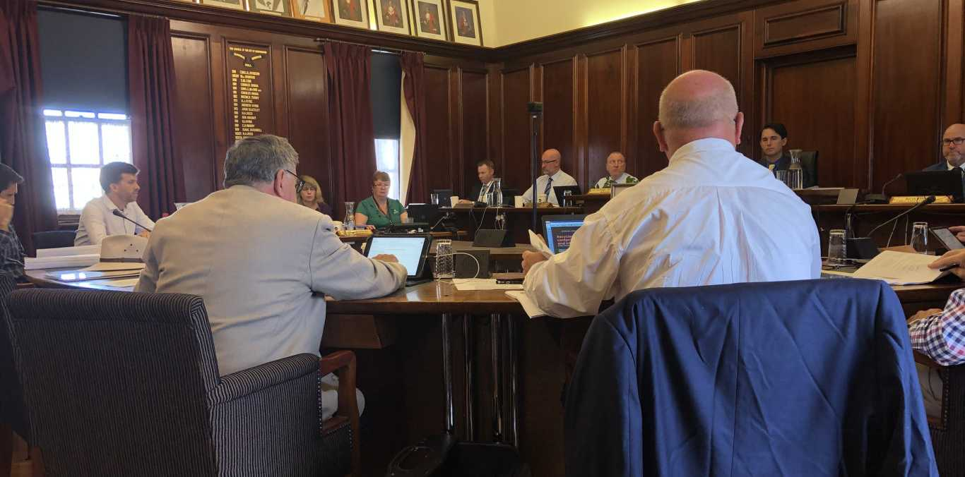 Council meeting today in Maryborough.