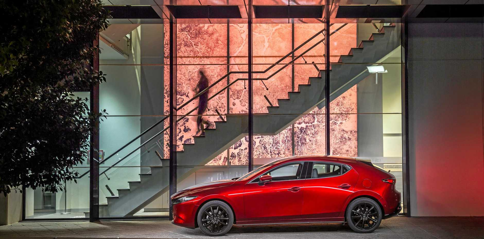 The 2019 model Mazda3 in Evolve speciviation, which starts from about $30,000 drive-away.