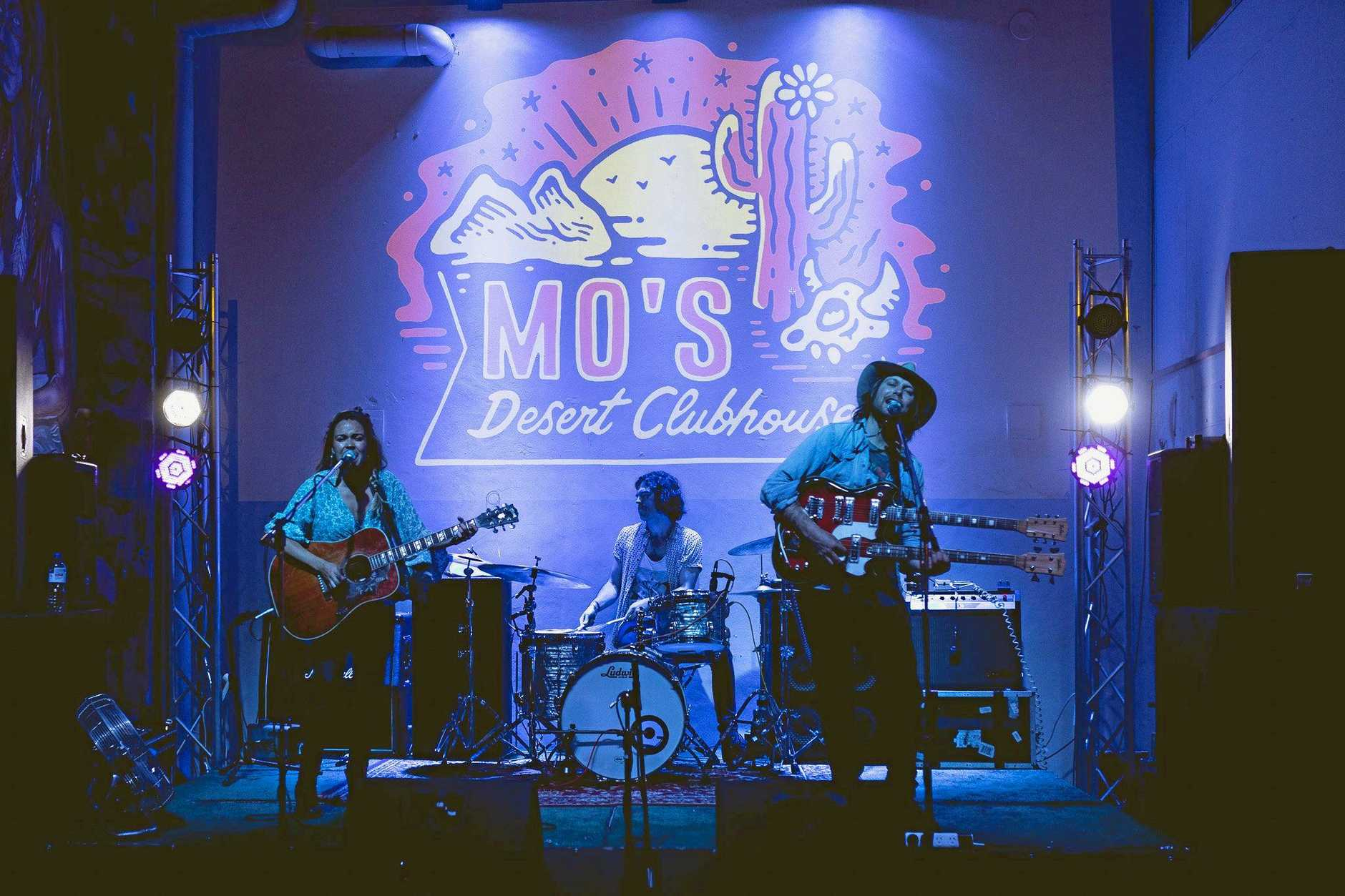 Mo's Desert Clubhouse at Burleigh Heads on the Gold Coast is a community hub for musicians, artists, creatives and industry-related crew, designed as a safe haven where creatives can dream, create, collaborate, inspire and motivate.