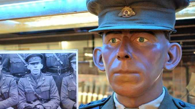 War medals, mannequin of Howard  hero, donated to museum