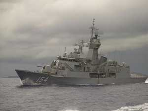 Australia sends warship to police North Korea