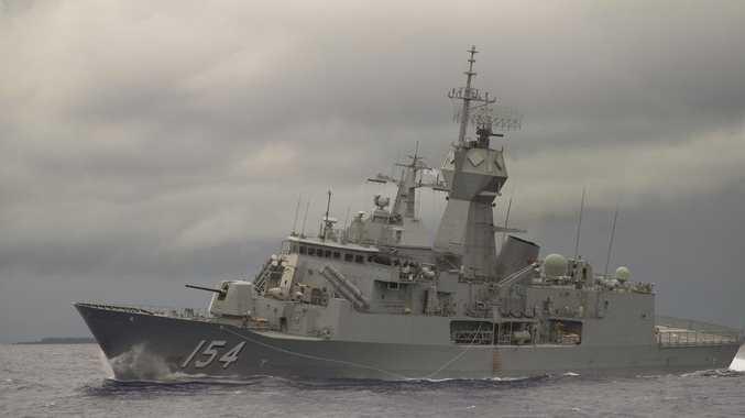 Australia sends warship to police North Korea