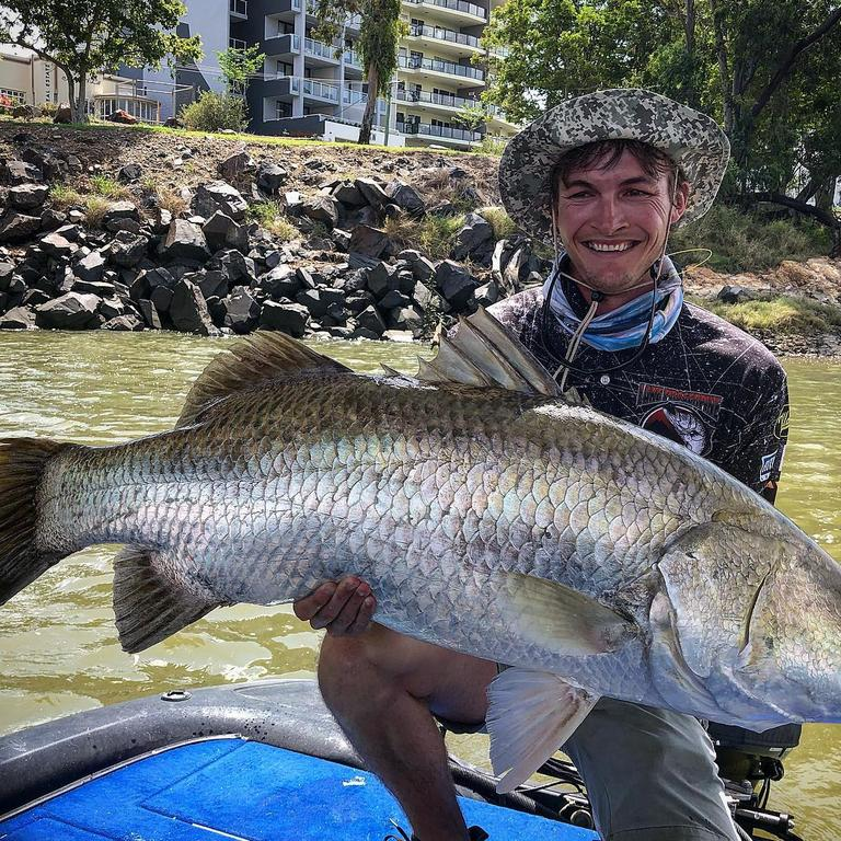 Ben Williams caught the largest barramundi right in the middle of town on the first day of the competition, sized at 1.19cm.