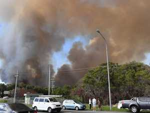 How close 20m-high flames came to destroying homes