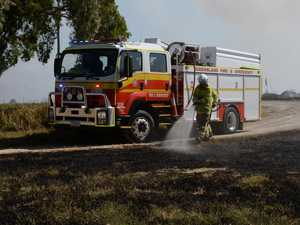 Highway reopened after roadside fire
